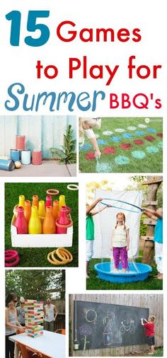 Got a cookout coming up? Here are 15 Outdoor Games for Summer BBQ's!
