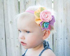 "Felt Flower Headband - ""Special Girl"" - You Pick Size"