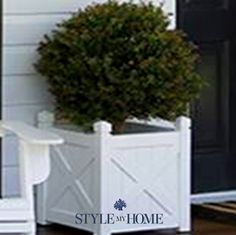 HAMPTONS Large White Undercover Planter Box   Style My Home