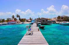 The island of Ambergris Caye lies off the Caribbean coast of Mexico, but is actually part of Belize. Its only town, San Pedro, sits close to the southern tip of the island, and with its own airport, serves as home base for abundant day trips accessible to the area.