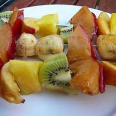"""Grilled Fruit Kabobs 