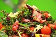 Raw Food Ultimate Summer Box Salad! Rawfully Organic Kale, Mango, Strawberries, Cherry Tomatoes, and Beets!