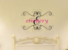 Whimsical Shabby Chic Girl Name Wall Decal Baby by AllOnTheWall, $35.00