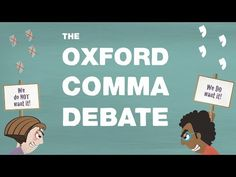 Grammar's great divide: The Oxford comma - TED-Ed