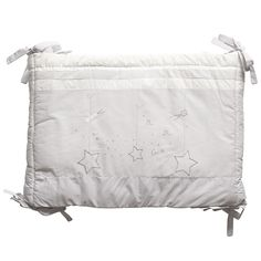 ABSORBA Stripe Grey Cotton Cot Bumper (200cm)
