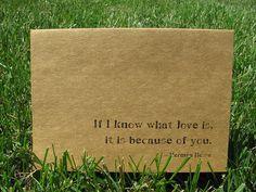 This quote interprets my feelings towards my husband, children, and grandchildren.