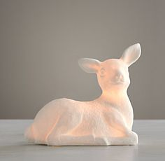 Restoration Hardware Baby & Child. Fawn deer night light on sale for $30!