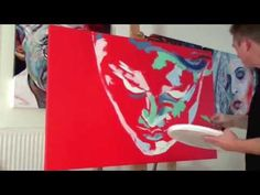 """This acrylic artwork is a abstract palette knife painting by Artist Rudolf Rox, with the title """"Stille Wasser"""" http://www.rudolf-rox.net/"""