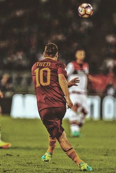 The Emperor of Rome:  After 25 seasons & 783 games for Roma, Francesco Totti confirms he will retire at the end of the season. Legend.