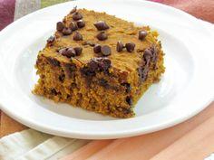 Gluten Free Low Fat Pumpkin Chocolate Chip Bars