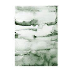 Water color poster green - Nynne Rosenvinge