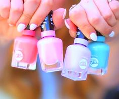 Loving these cute nail polishes in Alisha Maries (macbby11) new video...such springy colours give such a spring vibe