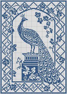 Ravelry: Pillow (Peacock Filet Chart) pattern by Mrs. F.W. Kettelle (editor)