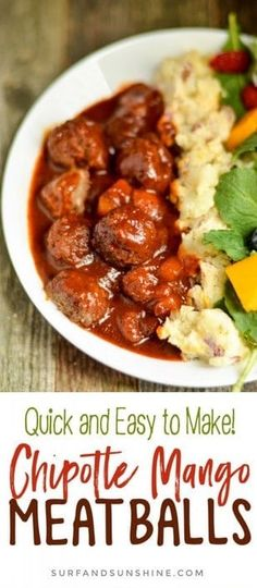 Meatball Recipes, Chicken Recipes, Easy Family Meals, Family Recipes, Food Dishes, Main Dishes, Planning Menu, Best Food Ever, Best Dinner Recipes