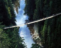 Walk across the Capilano Suspension Bridge in Vancouver