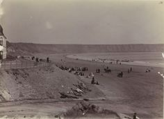 1887 - Filey at low water - Yorkshire | Photographe : W.J. Cleaver