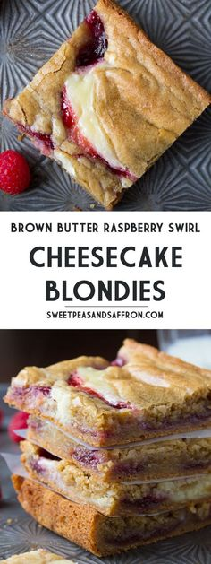 Brown Butter Raspberry Swirl Cheesecake Blondies - Cheese Chips - Ideas of Chees. - Brown Butter Raspberry Swirl Cheesecake Blondies – Cheese Chips – Ideas of Cheese Chips - Desserts Nutella, Mini Desserts, Just Desserts, Delicious Desserts, Yummy Food, Cheesecake Desserts, Desserts With Raspberries, Healthy Cheesecake Recipes, Vegan Recipes