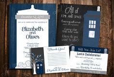 Doctor Who TARDIS Hochzeit Einladung Set - individuell bedruckbar Hochzeit stationären Kit - erstellen Ihr eigenes Paket