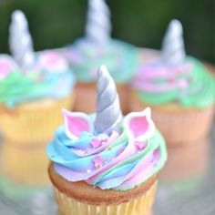 """: """"Made some cute unicorn cupcakes for my nieces birthday So excited to add more sprinkles to my…"""""""