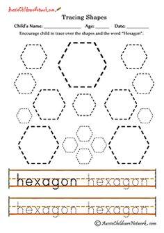Teaching Shapes Tracing Hexagon
