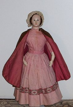 Another amazing French paper mache doll, circa 1840