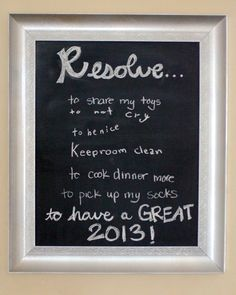 DIY Chalkboard New Years Resolutions #LowesCreator