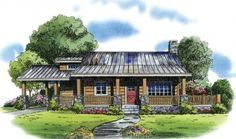 Floor Plans AFLFPW76643 - 2 Story Cabin Home with 2 Bedrooms, 1 Bathroom and 1,786 total Square Feet