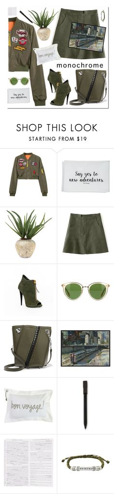 """Monochrome"" by nantucketteabook ❤ liked on Polyvore featuring WithChic, Ben's Garden, John-Richard, Oliver Peoples, Proenza Schouler, Home Decorators Collection, Park B. Smith, Moleskine, Luxe City Guides and NOVICA"