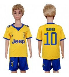 Juventus Paulo Dybala 10 Bortaställ Barn 17-18 Kortärmad Neymar, Ronaldo, Jeep, Barcelona, Sports, Tops, Fashion, Hs Sports, Moda