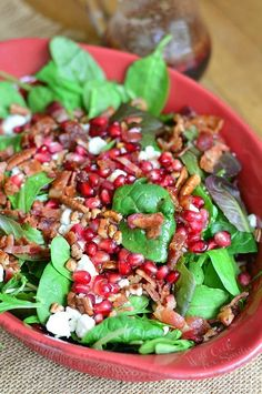 pomegranate-goat-cheese-salad-with-homemade-pomegranate-vinaigrette-2-from-willcookforsmiles-com_