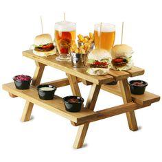 Miniature Wooden Picnic Bench Serving Platter... SO ADORABLE!