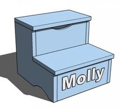 I want to make this!  DIY Furniture Plan from Ana-White.com  Children's wood step stool with lift top storage compartment.