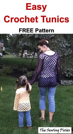 Easy Crochet Tunic Free Pattern - Agnes Creates - - This easy crochet tunic free pattern is perfect fall project for beginners. It includes free print friendly PDF pattern and step- by- step instructions. Crochet Geek, Knit Crochet, Crochet Hats, Crochet Sweaters, Irish Crochet, Crochet Afghans, Freeform Crochet, Crochet Tunic Pattern, Easy Crochet Patterns