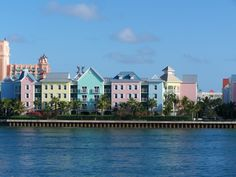 I loved all the pastel buildings in Freeport, Bahamas.
