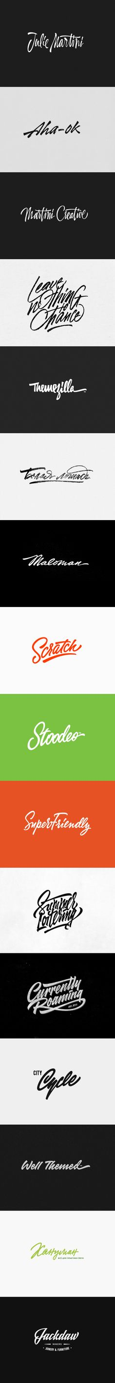 Recent logos and t-shirt letterings by Sergey Shapiro, via Behance