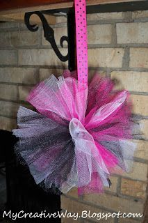 Tulle Pom Poms Tutorial     NEW updated tutorialfrom our post How To Make Tulle Pom Poms       SUPPLIES:   Tulle   I used 3 rolls. I wante...