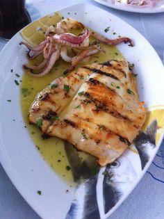 Rhodes Greece Food & Travel Diary - My Kiki Cake - Grilled Calamari for lunch