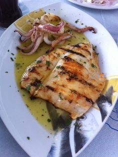 Rhodes Greece Food & Travel Diary - My Kiki Cake - Grilled Calamari for lunch