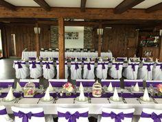 wedding decoration purple and white  esküvő dekoráció lila és fehér