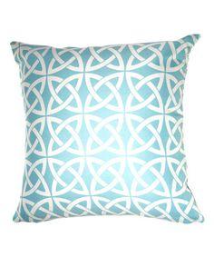 Blue Trellis Throw Pillow #zulily #zulilyfinds