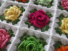 Part 4 of 5 of Granny Rose Pattern - The Granny Row and Join Squares (Instant Download)