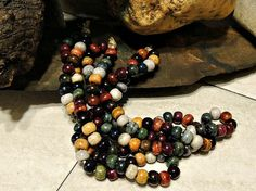 Beautiful Hand Dyed 10mm Buffalo Bone Beads in Vibrant Earthy Assorted Colors Jewelry Making, Crafting Handmade Supply
