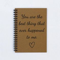 gift for boyfriend husband fiance  You are the best thing that ever happened   2019  gift for boyfriend husband fiance  You are the best thing that ever happened to me  5 x 7 Romantic journal notebook scrapbook  #boyfriend #fiance #gift #happened  The post gift for boyfriend husband fiance  You are the best thing that ever happened   2019 appeared first on Scrapbook Diy. #CoupleScrapbook