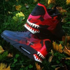 Nike Air Max 90 x Customs Bape Fade by Cute Sneakers, Sneakers Mode, Slip On Sneakers, Casual Sneakers, Shoes Sneakers, Sneakers Workout, Vans Shoes, Black Sneakers, Running Sneakers
