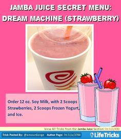 Jamba Juice Secret Menu: Dream Machine (Strawberry)