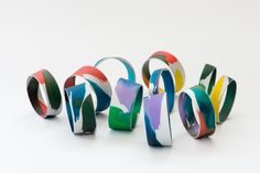 www.joannacampbell.co.nz anodised bangles by Joanna Campbell Bangle Bracelets, Bangles, Contemporary Jewellery, Jewelry Art, Resin, Cuffs, Cufflinks, Jewelry Making, Metal