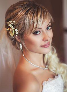 Coiffures de mariée courtes qui vous fait Princesse