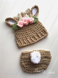 Crochet deer hat crochet baby deer hat deer antler hat and | Etsy