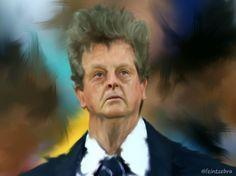 Roy Hodgson caricature.