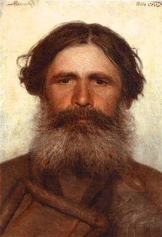 'Portret van een boer', 1868 / Ivan Kramskoi (1837-1887).